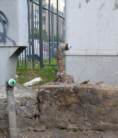 Urban eyeballs - My first installation in Rome (EUR area)